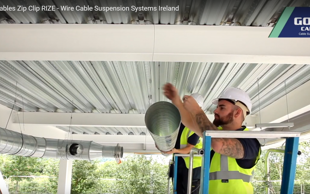 HVAC duct hangers using a cable suspension system