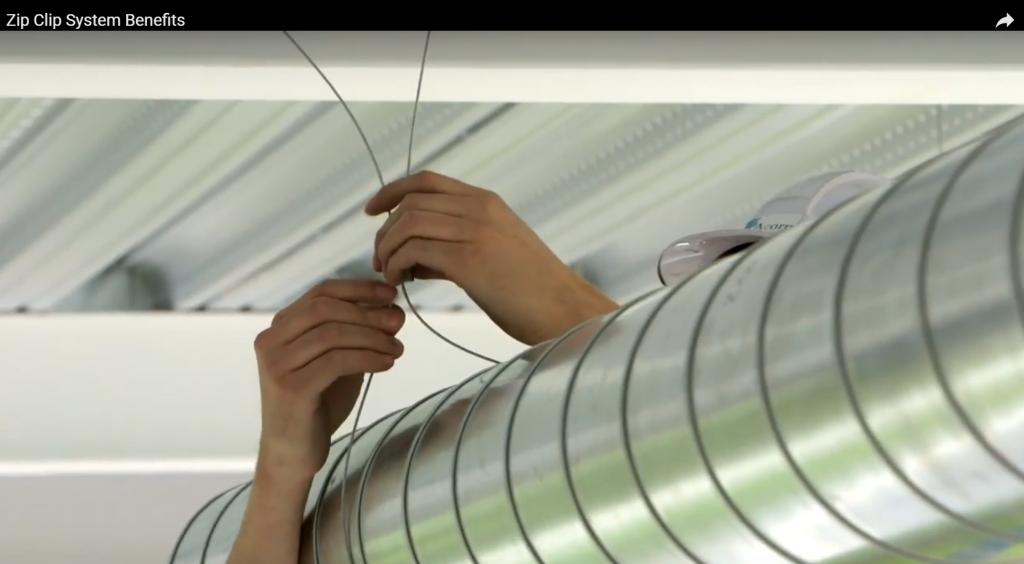HVAC Zip Clip Installation